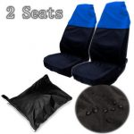 Black Blue Car Front Seat Covers Water Resistant Protectors Universal