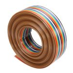 Geekcreit 5M 1.27mm 20P DuPont Cable Rainbow Flat Line Support Wire Soldered