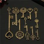 12pcs Vintage key Charms Accessories Jewelry Antique Charms/Pendants