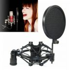 Professional Studio Microphone Wind Screen Pop Filter Mask Shield