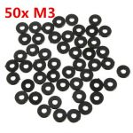 "Suleve""¢ M3NW3 Black Nylon Washer Gasket 3x8x1mm for M3 Screws 50pcs"