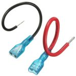 2pcs 16/22AWG Fully Insulated 6.35mm Female Spade Connector 14cm
