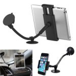 Universal 360 2in1 Car Windshield Mount Holder For iPad Tablet PC