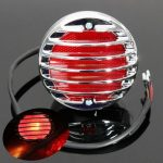 Chrome Motorcycle Tail Brake Red Light For Harley Bobber Chopper Rat