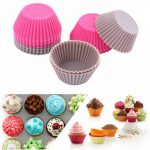 12 PCS Round Silicone Muffin Cup Cupcake Mold Jelly Pudding Mould