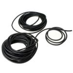 2X5mm Black Natural Latex Rubber Surgical Band Elastic Tube Tubing Hose 1m/5m/10m