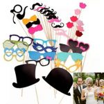 36Pcs DIY Photo Booth A Stick Wedding Birthday Photograph Props Party Decor