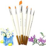 6 PCS Professional Drawing Set Acrylic Oil Watercolors Artist Paint Brushes