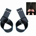 Suspension PVC Leather Hand Cuffs For Adult Sex Game