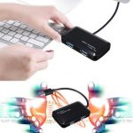 4 Port USB 3.0 Portable Compact 5Gbps Speed Hub Adapter For PC Laptop Mac