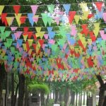40m Ceremony String Flags Warning Flags Color Pennant Flags S Size