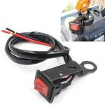 Motorcycle ATV Quad Bike Headlight On/Off Switch Rearview Mirror Wire