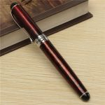 JINHAO X750 Lava Red Pen Medium Fine Nib Ink Fountain Pen
