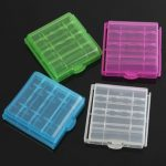 1pcs Plastic Box Case Storage For 4×14500/AA Li-ion Battery