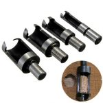 4pcs Carbon Steel Woodworking Plug Cutter Drill Bits Cutting Tool