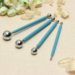 DIY Stainless Steel 8 Size Modelling Tool Ball Clay Plasticine Baking Decoration Tool