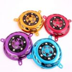 12V GY6 Motorcycle Scooter LED Fan Cover Flashing Light