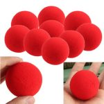 10PCS Close-Up Magic Street Trick Soft Sponge Ball Props Clown Nose