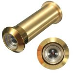 12mm Brass Security Door Viewer Spy Hole Peephole Adjustable 160 Degree