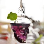 Hydroponic Plants Garden Flower Pot Skull Shape Hanging Glass Vase
