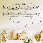 Black Music Note Removable Decal Home Room Decor Art Wall Sticker Wallpaper