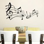 Art Home Decor Black Music Note Removable Wall Sticker Decal Wallpaper