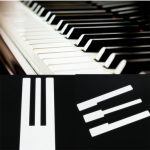 Piano Keytops – Simulated Ivory for Replacing Key Top Piano Accessory