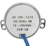 Turntable Synchronous Motor Robust 50/60Hz AC100-127V 4W 15-18RPM