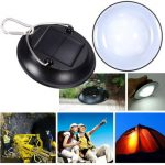 Portable LED Solar Power Bulb Hanging Camping Lantern Waterproof Outdoor Lamp