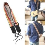 Classic Style Soft Cotton Guitar Strap For Belt Electric Bass