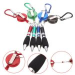 Retractable Belt Clip Corded BallPoint Work Pen Holder Office Supplies Keyring
