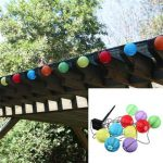 10 LED Solar Power White or Multi Coloured Chinese Lantern Garden String Lights