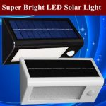 Solar Powered LED PIR Motion Sensor Wall Lamp Super Brightness Outdoor Street Garden Light