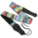 Colorful National Style Guitar Strap For Belt Electric Acoustic Guitar