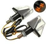 Universal 12V 3LED Motorbike Turn Signal Indicators Lamp Light Amber