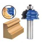 Drillpro RB28 1/2 Inch Shank Rail And Stile Router Bit Woodworking Chisel Cutter
