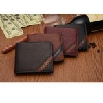 PIDENGBAO Brand Men Three Fold PU Leather Wallet Horizontal Soft Leather Purse