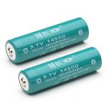 2pcs MECO 3.7V 1200mAh Rechargeable 14500 Li-ion Battery