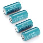 4PCS MECO 3.7v 1200mAh Reachargeable CR123A/16340 Li-ion Battery