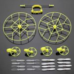 Protection Wheels w/ 4 Pairs Propellers For Cheerson CX-10 CX-10A JJ810 JJ820 RC Quadcopte
