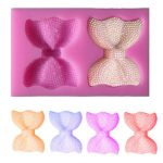 Silicone 3D Bowknot Flower Fondant Mold Cake Chocolate Jelly Fondant Mold Mould
