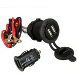 12-24V Dual USB Motorcycle Phone Power Charger With Waterproof Cover