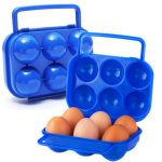 Portable Plastic 6 Egg Box Case Holder Folding Storage Box Egg Container