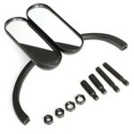 Motorcycle Oval Handle Bars Rear View Mirror For Harley Davidson