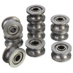 10pcs 624ZZ 4x13x7mm HCS U Groove Sealed Ball Bearings Guide Pulley Ball Bearings