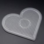 1 set Square Round Heart Puzzle Pegboards Pattern For Hama Beads DIY