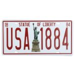 Statue Of liberty License Plate Tin Sign Vintage Metal Plaque Poster Bar Pub Home Wall Decor