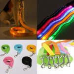 LED Flashing Dog Leash Night Safety Dog Training Rope Traction