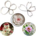 4PCS Stainless Steel Peony Petals Cookie Cutters Mold Biscuit Cake Decorating Tools
