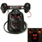 Motorcycle ATV Skull Turn Signal Light Brake Tail License Plate Lamp For Harley Chopper